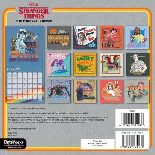 """DateWorks Stranger Things 2021 Mini Wall Calendar 7/"""" x 7/"""""""