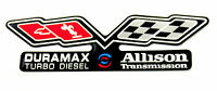 Duramax / Allison (flags) Emblem Super Sized Black