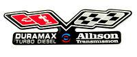 Duramax / Allison (flags) Emblem Super Sized Black
