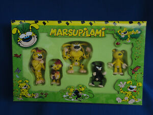 French Marsupilami Figures Gift Set - Set of 5 PVC Figures - Boxed Collection