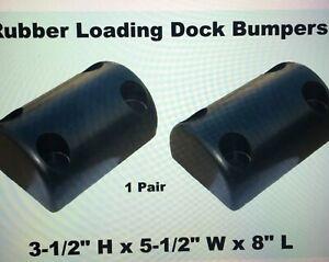 """LOADING DOCK BUMPER 18/"""" L x 18/"""" W x 4/"""" D Rubber Truck Trailer Dock Wall L-Shape"""