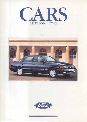 May 1985 FORD ALL MODEL CATALOGUE Fiesta Escort Capri Sierra Granada UK BROCHURE