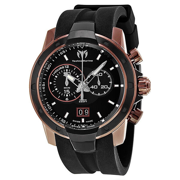 Technomarine UF6 Chronograph Black Dial Brown PVD Mens Watch 612001