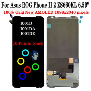 New For Asus ROG Phone II 2 ZS660KL I001D I001DA I001DE LCD Display Touch Screen