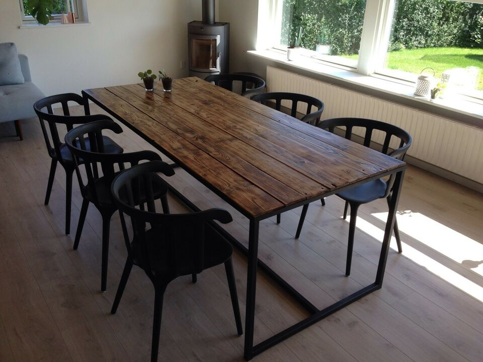 Moderne Spisebord, Jern og træ, By#Olsson – dba.dk – Køb og Salg af Nyt og AH-78