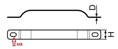 Cassette pour l/'insertion quelque métal pfostenband rohrband mesurant parenthèse