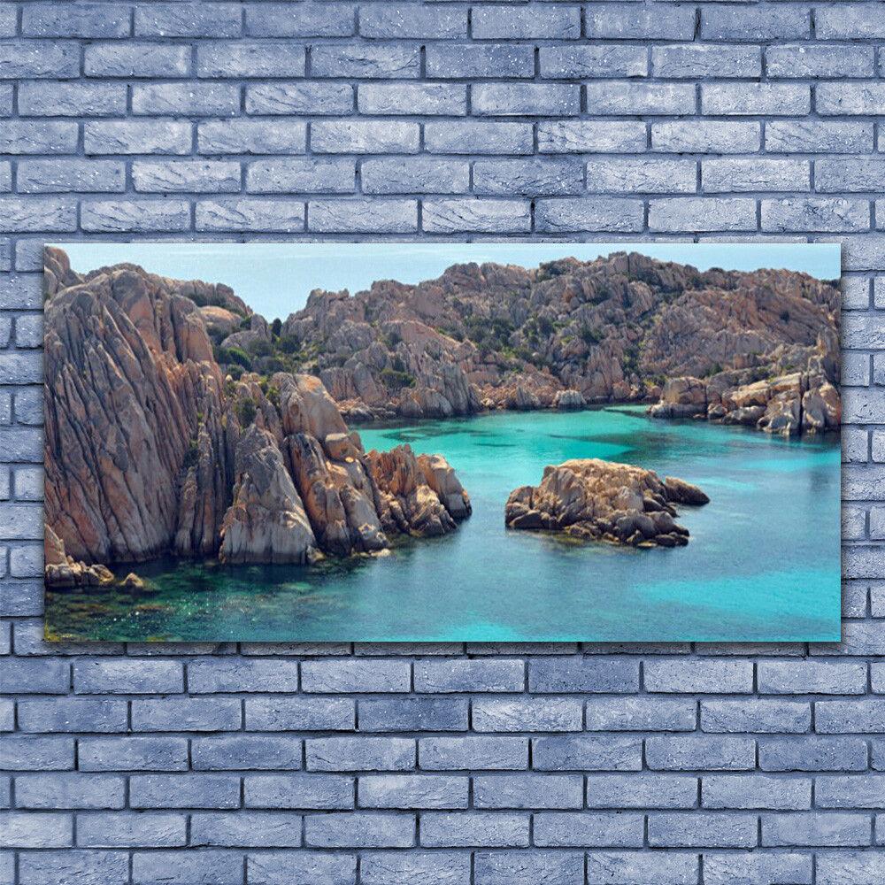 Glass print Wall art 140x70 Image Picture Gulf Landscape