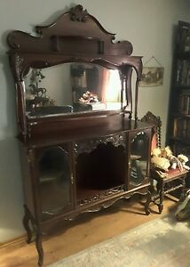 Image Is Loading Antique Early 1900 039 S Victorian Mitchell Mahogany