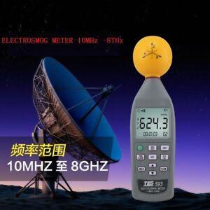 NEW-TES-593-3-AXIS-EMF-Radiation-ElectroSmog-Meter-Tester-10M-to-8-0GHZ-TES593