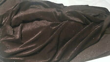 HIGH QUALITY DARK BROWN SILK VELVET FABRIC 180cm X 180cm