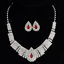 Fashion-Elegant-Women-Bib-Crystal-Pendant-Statement-Chain-Chunky-Choker-Necklace miniature 42