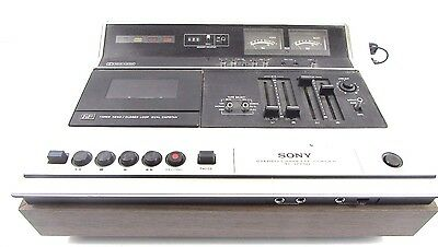 MINTY VINTAGE SONY STEREO CASSETTE TAPE RECORDER CORDER TOP LOADER TC-177SD