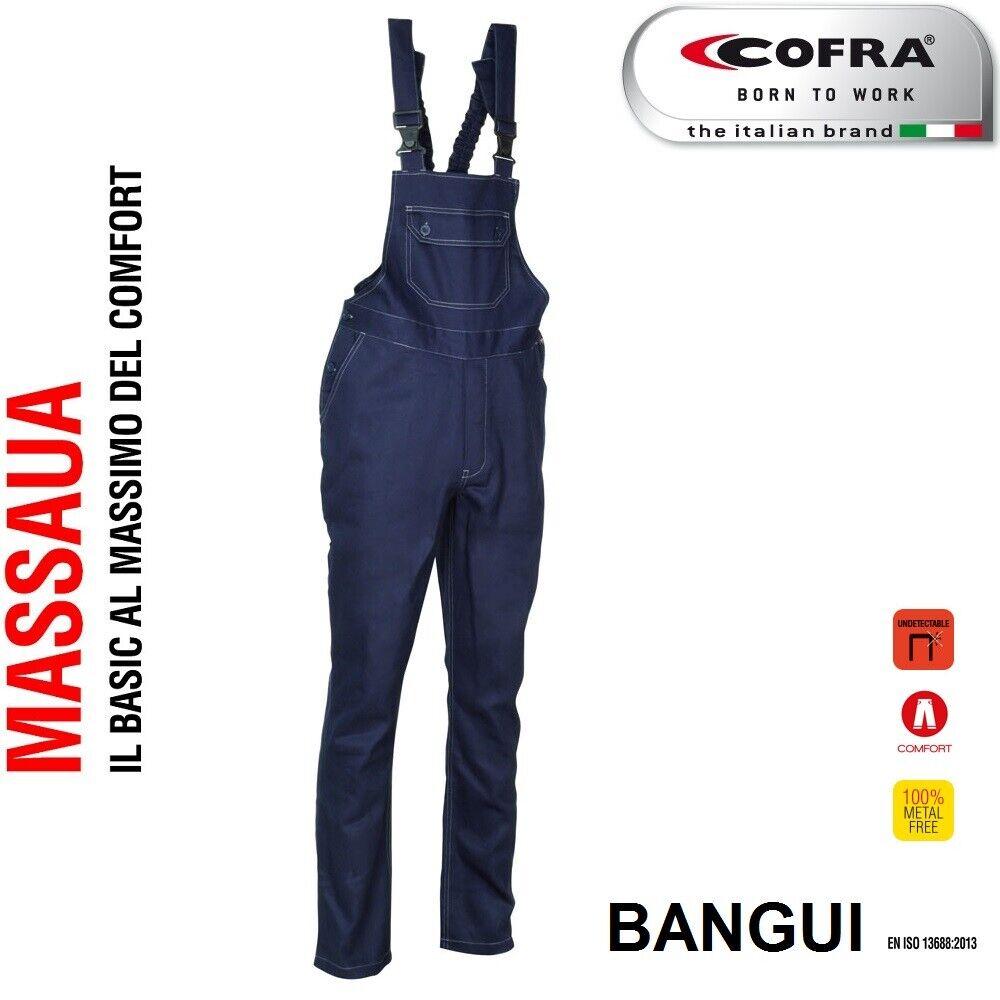 Immagine 01 - Pettorina da lavoro COFRA modello BANGUI 100% cotone 270 g/m² industria, logist