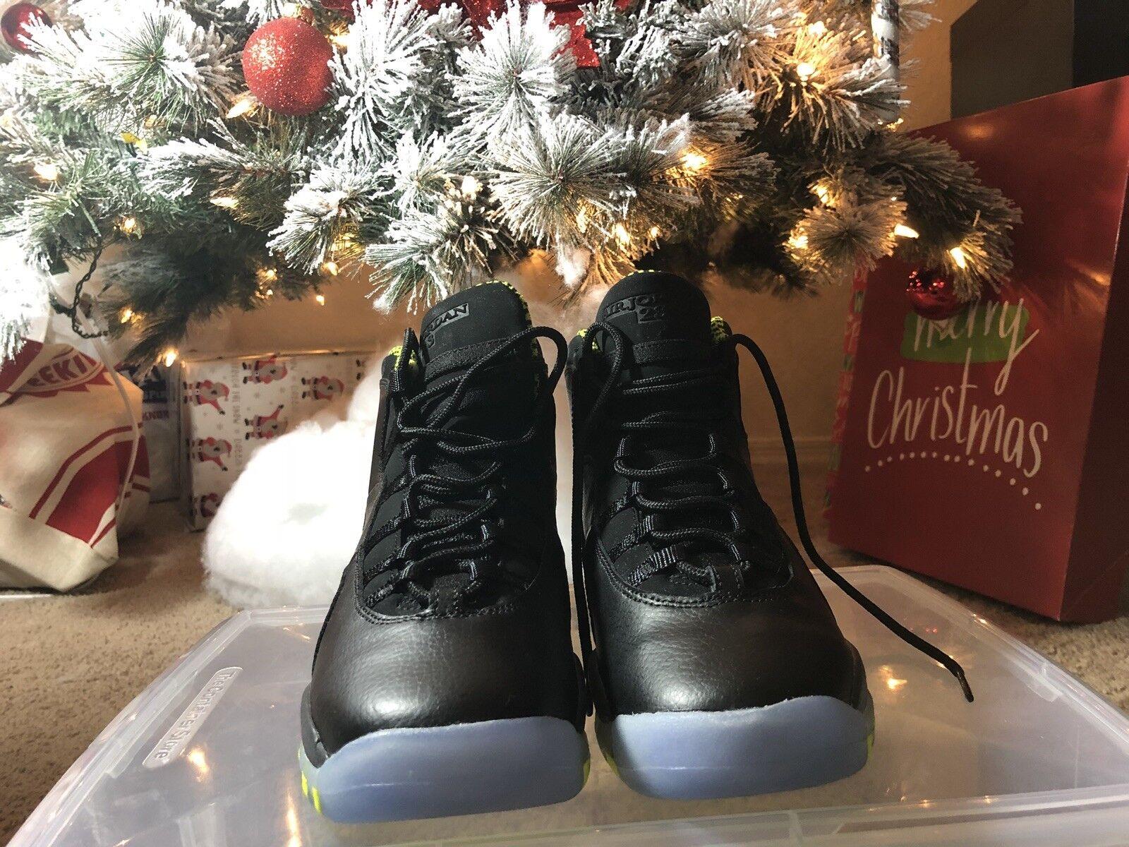 Nike Air Jordan 10 X Retro Venom Green Black size 6.5 youth