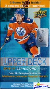 2016-17-Upper-Deck-Series-1-Hockey-EXCLUSIVE-Factory-Sealed-12-Pack-Blaster-Box