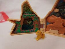 Vintage 1995 Disney's The Lion King Polly Pocket Pride Rock Play Set + Simba