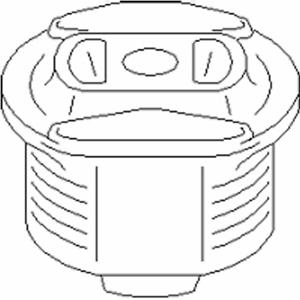 Lagerung Achsträger für Radaufhängung Hinterachse TOPRAN 400 071