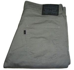 Hommes Levi's 508 Gris Clair (0108) Standard Conique Jeans Extensible W32 L32