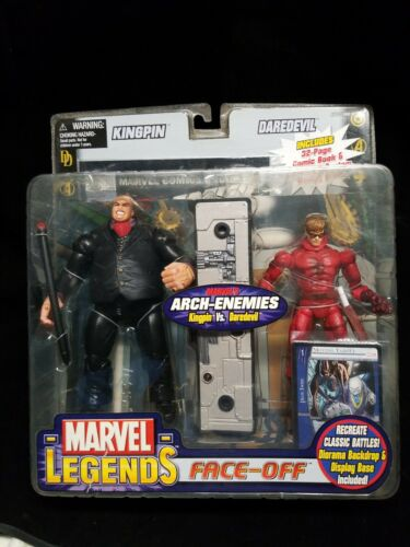 DAREDEVIL NIB black variant Toy Biz Marvel Legends Face-Off KINGPIN Vs