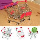 Mini Supermarket Handcart Shopping Utility Cart Mode Storage Basket Desk Toy New