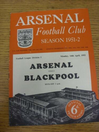 14041952 Arsenal v Blackpool heavy m changes, some pencil notes. Item in