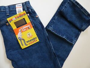 Wrangler RIGGS Workwear 46 X 34 Antique Indigo Wrangler RIGGS Workwear 14.5 Ounce Cotton Jeans With Front Zipper Closure
