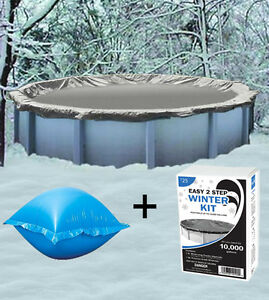 18 39 Round Above Ground Winter Pool Cover 4 39 X4 Air Pillow Winterizing Kit