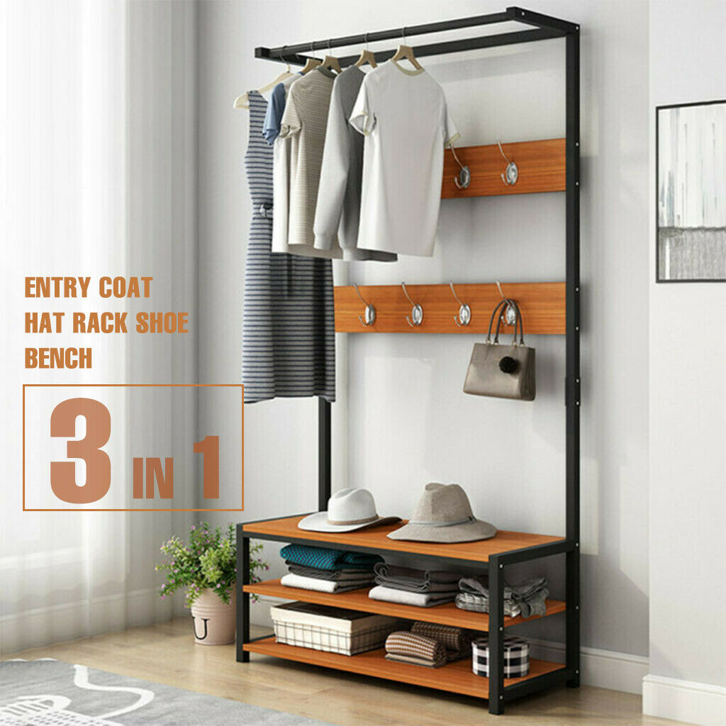 64 Distressed Wood Entryway Hall Tree W Open Storage Bench And Coat Shoe Rack For Sale Online Ebay,Wall Paint Design Ideas With Tape