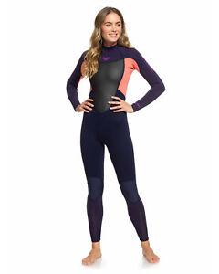 NEW-ROXY-Womens-Prologue-3-2mm-Back-Zip-Steamer-Wetsuit-Womens-Surf