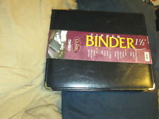 Samsill Zipper Binder 1 12 The Classic Collection Hand Stitched New