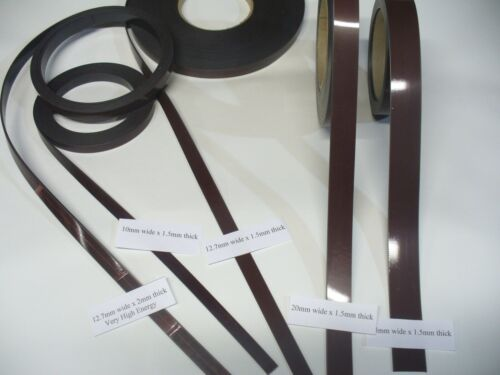 25mm widths /& 2 Different Strengths Magnetic Self Adhesive Tape 12.7 20 10