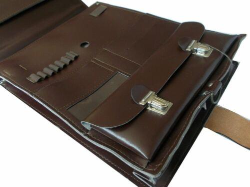 Messenger Bag Satchel Backpack Cold War Era NEW VTG Part Leather Dark Brown A4+