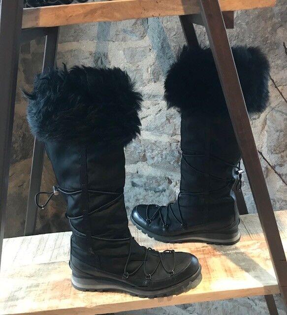 Prada Tall Nylon Winter botas with Faux-Fur - - - Talla 39 IT - 9 US  autentico en linea