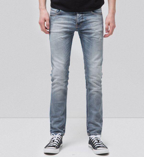 NUDIE JEANS Grim Tim Männer Jeans Denim Hose Faded Ash 112641