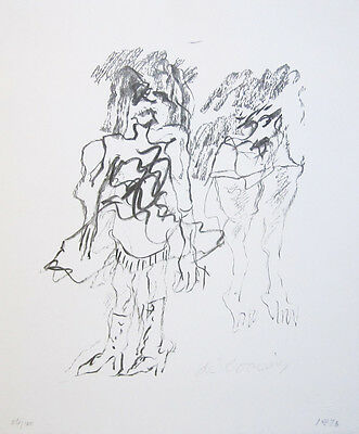 "WILLEM DE KOONING Signed 1973 Original Lithograph - ""Two Women"""