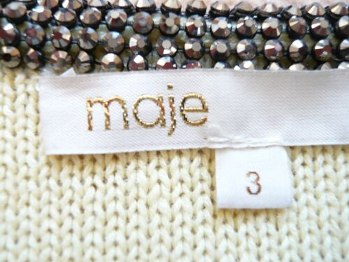 Sequin Eye Uk Look Or Maje Edges amp; Jacket Cardigan Hook Yellow W 12 New Knitted TwR7xO0