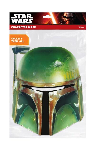 Disney Star Wars Boba Fett Face Party Mask Card A4 Fancy Dress Film Ladies Kids