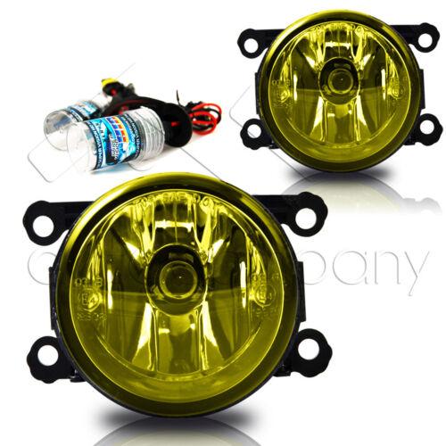 Yellow 15-16 Subaru WRX//STI Replacement Fog Lamps w//Wiring /& HID Kit