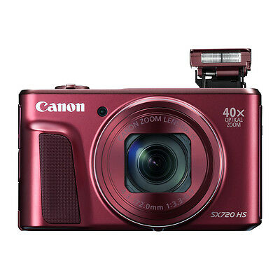 Canon Powershot SX720 HS 20.0MP 40x Zoom Digital Camera Red