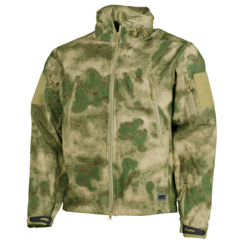 MFH Scorpion Soft Shell Jacket Mens Trekking Hiking Winter Top Army HDT Camo FG