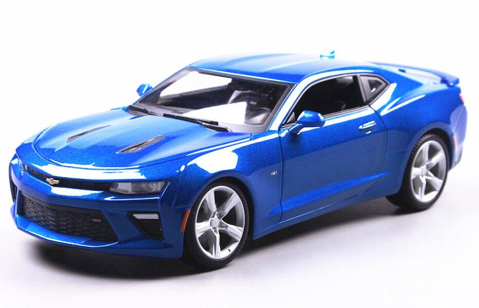 Maisto 1 18 2016 Chevrolet Camaro SS tärningskast Metal modellllerler Bil blå New in låda
