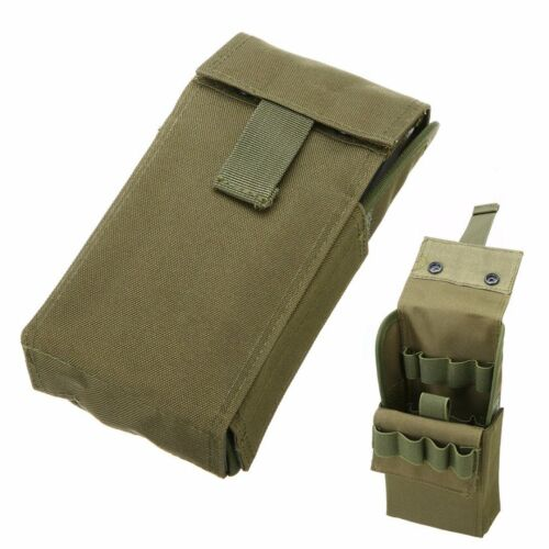 Tactical Molle 25 Round 12GA Shotgun Shell Ammo Magazine Pouch Waist Bag Holder