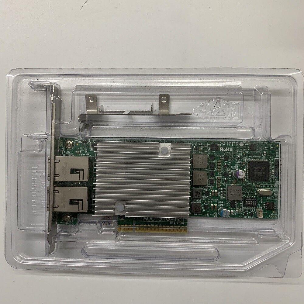 Supermicro AOC-STG-i2T REV 2.0 Dual Port 10GBASE-T RJ-45 High-Density Adapter