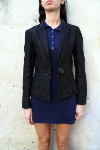 Edt S 42 Shiny Uk10 Jacket Guess Spotted Lining Black Super Denim Blazer Limited 5gwxxqpv