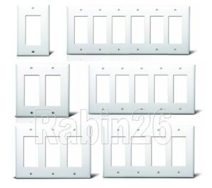 Decora Gfci Plastic Wall Cover Plate 1 2 3 4 5 6 Gang