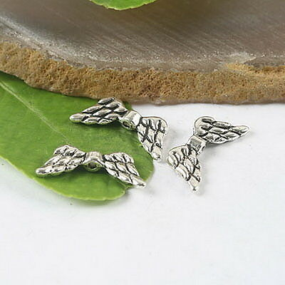 35Pcs Tibetan silver crafted wing beads findings H0145