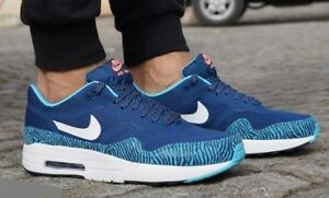 on sale 744dc ada3e Image is loading Nike-Air-Max-1-PRM-TAPE-Brave-Blue-