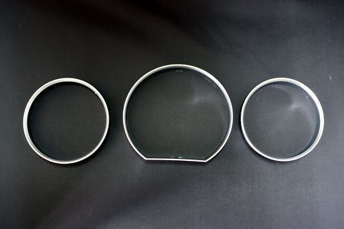 Chrome Gauge  Cluster Rings Dials Rims Fits 85-96 Mercedes Benz W124