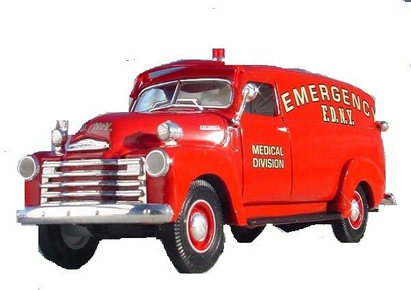 RARE FIRST GEAR FDNY 1949 CHEVY PANEL d'urgence Camion