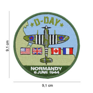 Patch Sew-On Spitfire Airforce US Army Bomber USAAF D-Day 1944 Cockade Vintage
